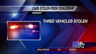 Police search for one of three vehicles stolen from Minot Dealership