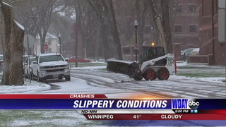 Slippery and snowy roads lead to multiple car accidents