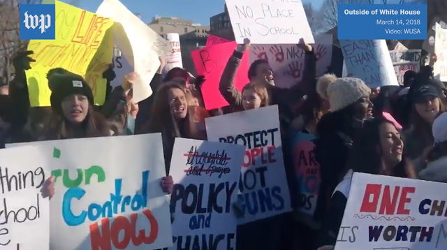 D.C. area students participate in national walkout to protest gun violence