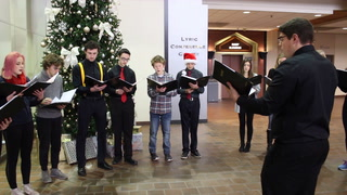 Marshall School carols through downtown Duluth skywalk