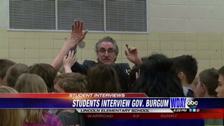 Fourth graders turned journalists interview Gov. Burgum