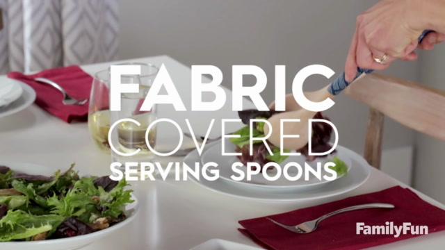 DIY Fabric Covered Serving Spoons