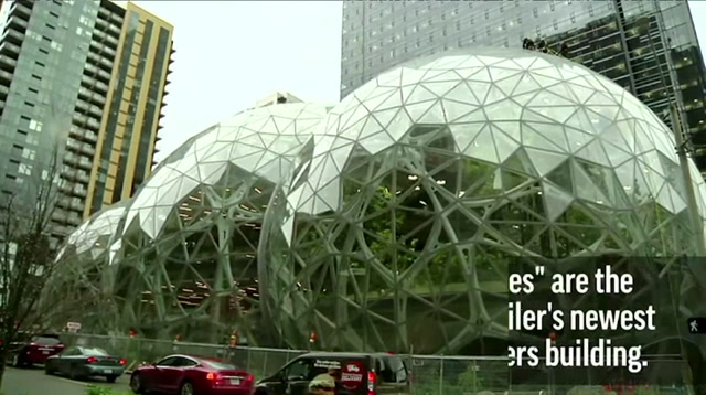 Amazon Unveils 'Spheres' Green Space In Seattle