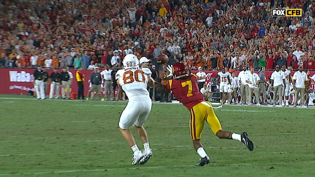 USC and Texas trade interceptions in the 4th