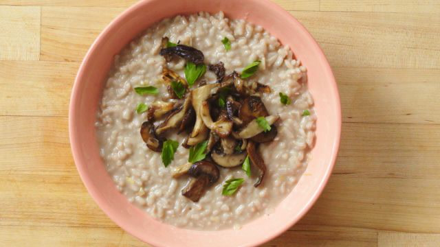 How to Make Risotto with Mushrooms and Leeks