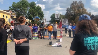 Line 3 protest in downtown Bemidji