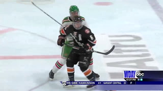 Moorhead skates by East Grand Forks