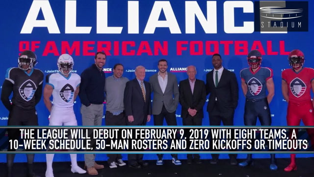 New Football League, the Alliance of American Football, to Debut in 2019