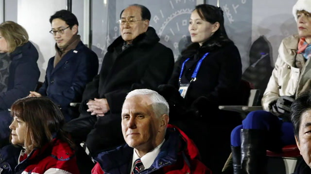 At Olympics, Pence Sits Near North Koreans