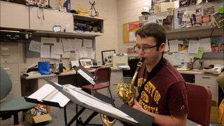 Ashley Olson, a Willmar High School senior, goes one-on-one with clarinet instructor Nina Olsen of the MacPhail Center for Music.