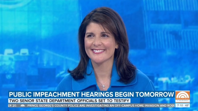 Impeachment, Ukraine and Trump's fitness to serve: Takeaways from Nikki Haley's 'Today' interview