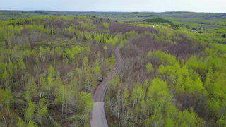 Drone's-eye view of Duluth area