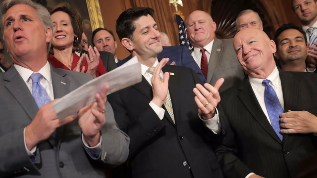 'This is an exciting day':  House Republicans celebrate passing their tax bill