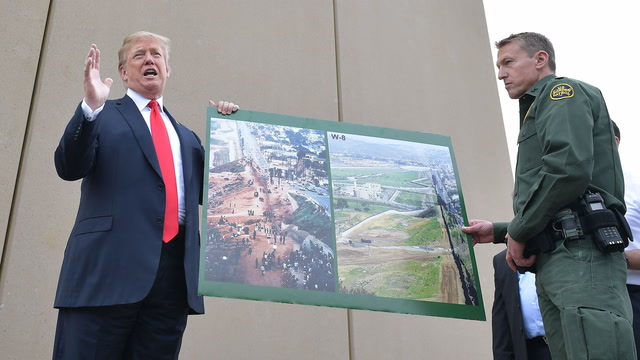 Trump attacks California Gov. Brown during border wall prototype tour