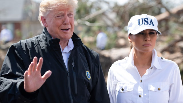 Trump praises first responders after Hurricane Michael