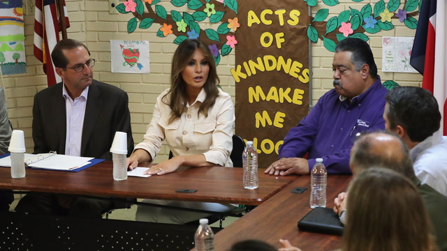 First lady Melania Trump asks about immigrant children's well-being in shelters