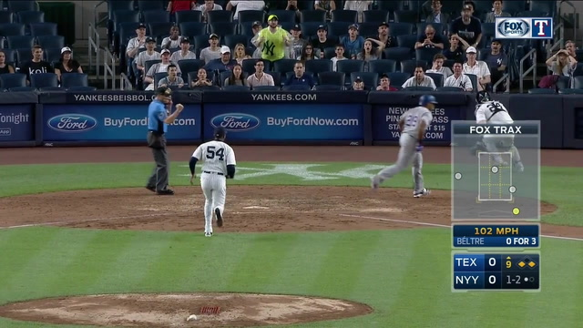 WATCH: Elvis Andrus scores in 9th inning on wild pitch vs. Yankees