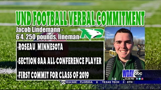 Roseau's Lindemann commits to UND for football