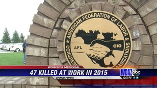 Memorial held at Bringewatt Park to honor workers killed on the job