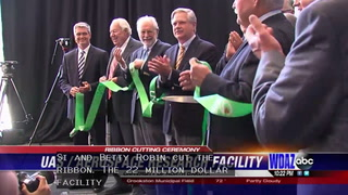 Ribbon cutting held at UND for Robin Hall
