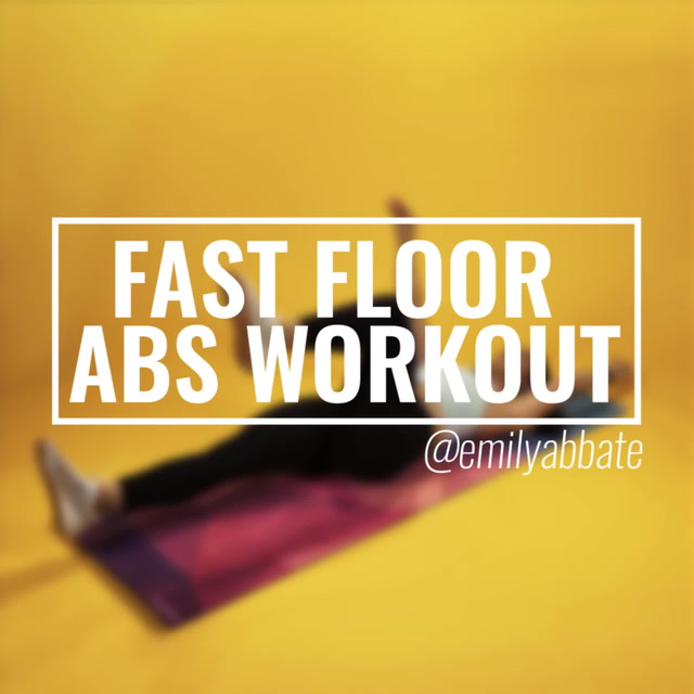 Fast Floor Abs Workout with Emily Abbate