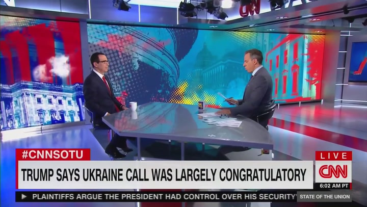 Tapper Corners Mnuchin: Wouldn't You Find it Inappropriate if Obama Asked Ukraine to Investigate Trump's Kids?