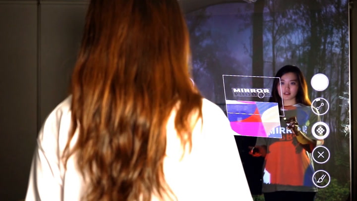 This Magic Mirror Reflects Clothing Onto Your Body