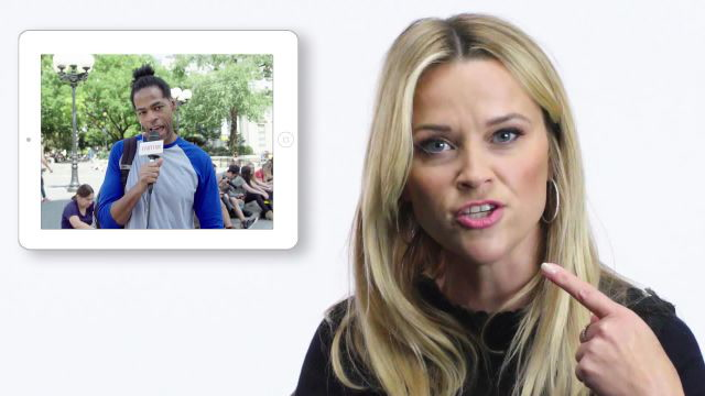 Reese Witherspoon Gets Interviewed by New York City