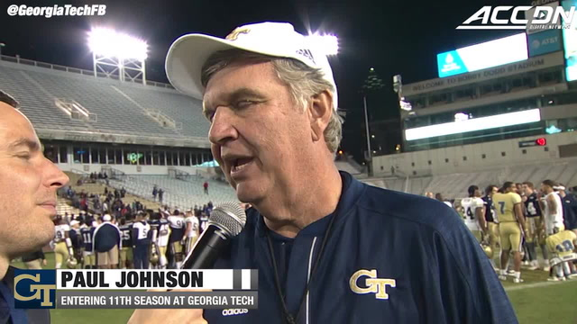 Paul Johnson Georgia Tech Spring Game Postgame Interview (2018)