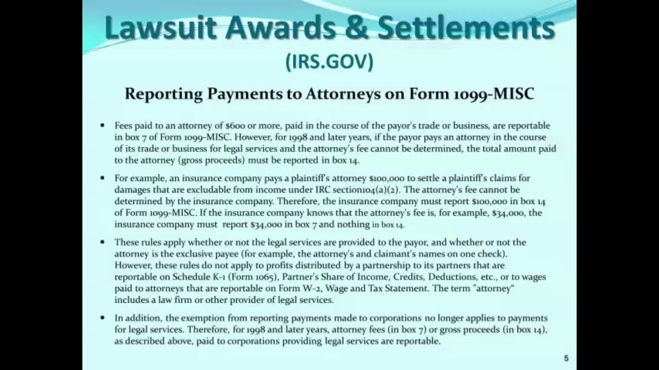 1099 reporting for settlement agreements video lorman more program information falaconquin
