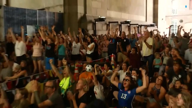 'USA! USA! USA!': soccer fans celebrate U.S. semifinal win in Women's World Cup