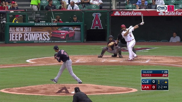 WATCH: Albert Pujols' RBI double scores Mike Trout from first base