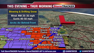 Tracking A Ground Blizzard This Evening - Thursday Morning