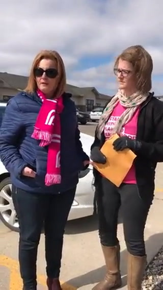 Planned Parenthood supporters protested Friday, March 24, outside the Fargo field office of U.S. Rep. Kevin Cramer, R-N.D. Forum News Service