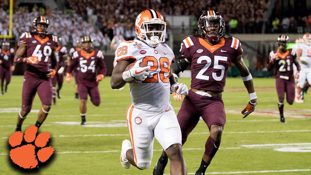Clemson RB Tavien Feaster Outruns Virginia Tech For 60-Yard TD