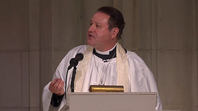 The Rev. Russell J. Levenson Jr. delivers homily at funeral for George H.W. Bush