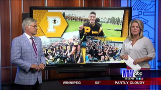 Perham football team collects money to buy letter jacket for favorite fan