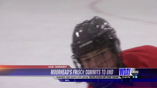 Moorhead's Frisch commits to play hockey at UND
