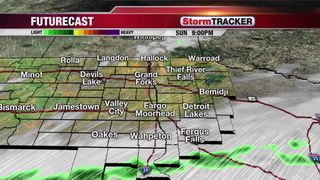 Breezy Sunday Evening with Showers Developing South