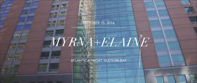 Myrna + Elaine | New York City, New York | The Atlantica Yacht