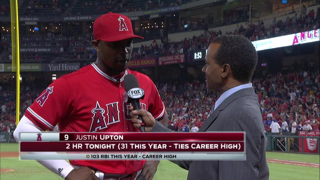 Upton's hot bat carries the Angels again in 2-0 win