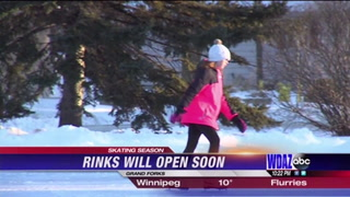 Outdoor ice rinks flooded in time for winter break