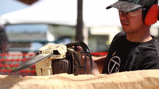 Lake Superior Chainsaw Sculpture Championships at Barker's Island
