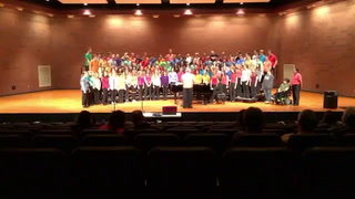 Morris Area combined high school choirs sing