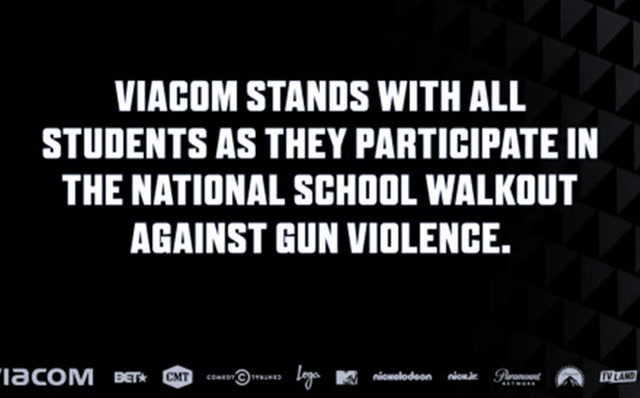 Viacom Television Networks Go Dark To Support National School Walkout Day