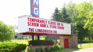 Long Drive-In damaged in storm