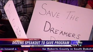 Dozens rally on UND campus to save DACA
