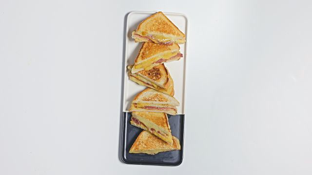 The Ultimate Ham and Cheddar Toastie with Fig Mostarda