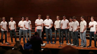 "Male group sings ""Goodnight, Sweetheart"""
