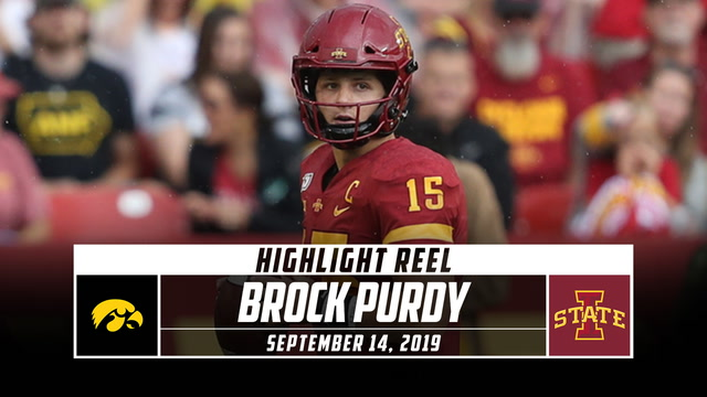 Brock Purdy Highlights: Iowa vs. Iowa State (2019)